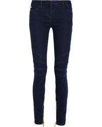 Balmain Mid Rise Skinny Jeans Mid Denim
