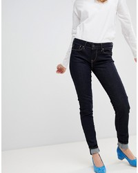 Pepe Jeans Mid Rise Soho Skinny Jean With Contrast Stitch