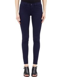 J Brand Mid Rise Super Skinny Pants Purple