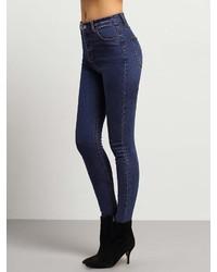Romwe Middle Waist Skinny Jeans