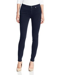 7 For All Mankind Midrise Skinny Jean In Brushed Sateen