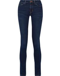 MiH Jeans Mih Jeans Bodycon Mid Rise Skinny Jeans Dark Denim