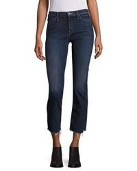 Mother Stunner High Rise Step Hem Skinny Ankle Jeans