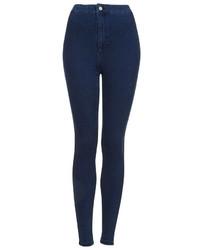 Topshop Moto Dark Vintage Wash Joni Jeans