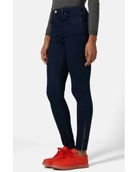 Topshop Moto Jamie Ankle Zip High Waist Skinny Jeans