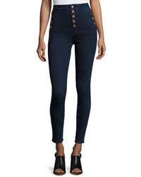 J Brand Natasha Sky High Waist Skinny Jeans Blue