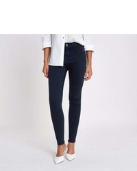 River Island Navy Blue Molly Skinny Jeggings