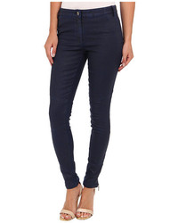 Nicole Miller Distressed Coated Denim Pant