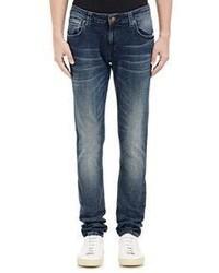 Nudie Jeans Nudie Nudie Skinny Lin Jeans Blue Size 28w 34l