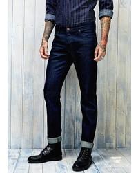 Mango Outlet Outlet Slim Fit Stretch Dark Tim Jeans