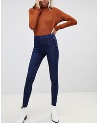 Pieces Paro Superstretch Skinny Jeans With Popper Waist