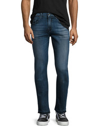 7 For All Mankind Paxtyn Skinny Jeans With Released Hem Blue
