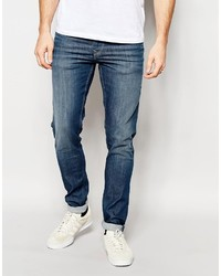 Pepe Jeans Powerflex Finsbury Superstretch Skinny Fit Big Twill Mid Blue