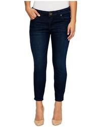 KUT from the Kloth Petite Brigitte Crop Skinny In Royalty Jeans