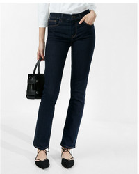 Express Petite Mid Rise Stretch Skinny Jeans