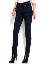INC International Concepts Petite Skinny Curvy Fit Jeans Dark Wash