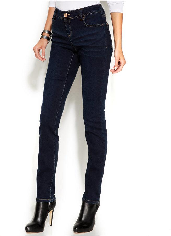 INC International Concepts Petite Skinny Curvy Fit Jeans Dark Wash ...