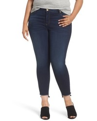 KUT from the Kloth Plus Size Connie Step Hem Skinny Ankle Jeans