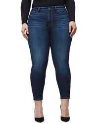 Good American Plus Size High Waist Good Legs Crop Skinny Jeans