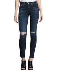 Rag & Bone Jean Mid Rise Distressed Skinny Jeans Vashon