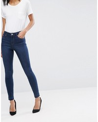 Asos Ridley Skinny Jeans In James Darkwash With Let Down Hem