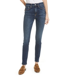 Rag & Bone Ripped High Waist Skinny Jeans