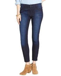 Black Orchid Russian Navy Stretch Denim Ankle Zip Jeans
