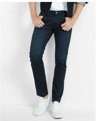 Express Skinny Dark Wash Coated Stretch Jeans