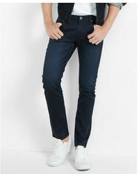 Express Skinny Dark Wash Coated Stretch Jeans