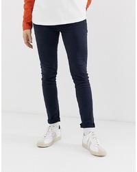 Jack & Jones Skinny Fit Jeans In Navy Denim