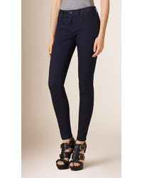 Burberry Skinny Fit Low Rise Indigo Denim Jeans