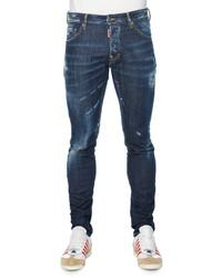 DSQUARED2 Slim Fit Distressed Denim Jeans