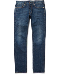 Incotex Slim Fit Washed Denim Jeans