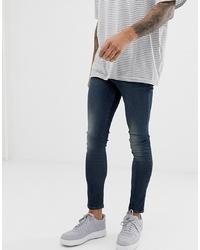 ASOS DESIGN Spray On Jeans In Power Stretch Denim In Tint