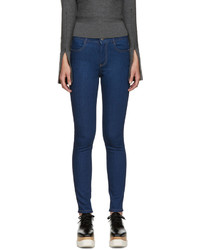 Stella McCartney Blue High Rise Skinny Jeans