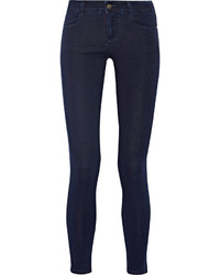 Stella McCartney The Skinny Ankle Grazer Mid Rise Jeans Dark Denim