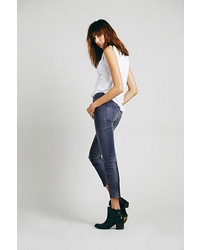 Free People Sueded Sateen Zipper Back Skinny
