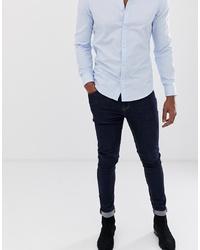 ASOS DESIGN Super Skinny Jeans In Raw Blue