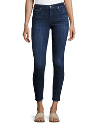 7 For All Mankind The Ankle Skinny Jeans Dark Blue