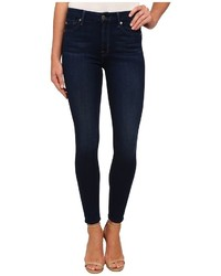 7 For All Mankind The High Waist Ankle Skinny In Slim Illusion Luxe Dark Legacy