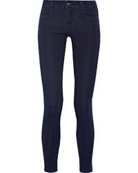Stella McCartney The Skinny Ankle Grazer Mid Rise Jeans Dark Denim
