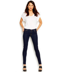 7 For All Mankind The Skinny Skinny Leg Jeans Rinsed Indigo Wash