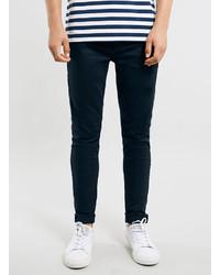 Topman Navy Stretch Skinny Jeans