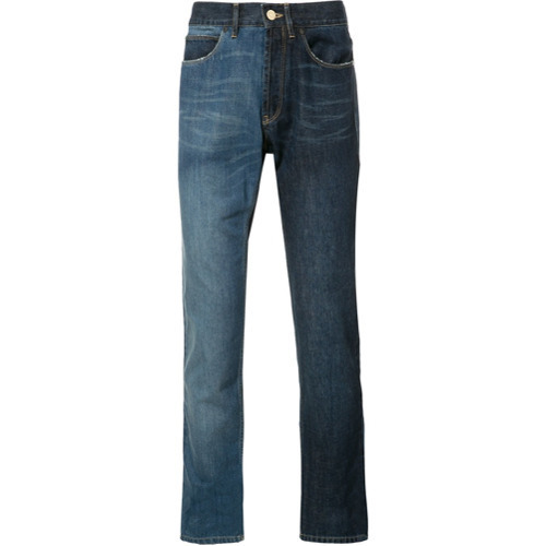 Lanvin Two Tone Contrast Skinny Jeans