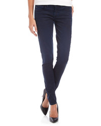 Vince Fade To Blue Coated Skinny Twill Jeans Navy