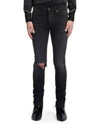 Saint Laurent Washed Skinny Fit Jeans