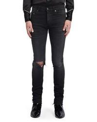 Saint Laurent Washed Skinny Fit Jeans