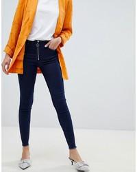 Vila Zip Front Skinny Jeans
