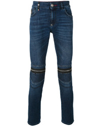 Philipp Plein Zipped Knee Skinny Jeans