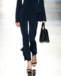 Cushnie et Ochs Julianne Tailored Skinny Ruffle Hem Pants